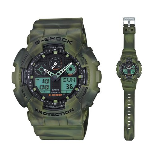 ساعت مچی مردانه کاسیو جی شاک مدل ga-100 mm-3a